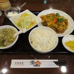 鳳山 - ホイコーロウ定食 600円 ※サラダ・ライス・スープ・お替り自由