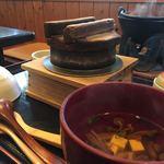 銀の穂 - 釜飯ときのこ汁