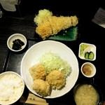 96407063 - TOKYO X シャ豚ブリアンかつ3個定食+雪室熟成豚特ロースかつ