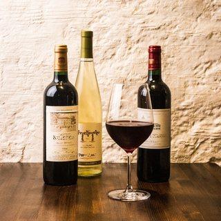 熟成肉との相性を考え選び抜かれたワインの数々