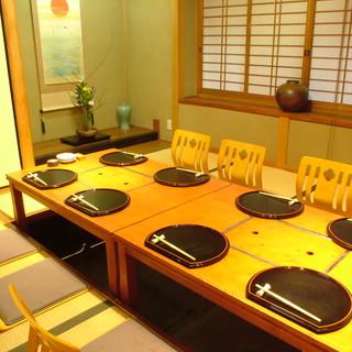 特等席の【カウンター席】や様々な【完全個室】でおもてなし。