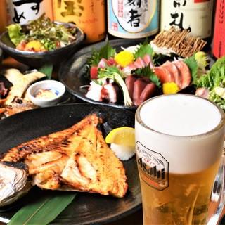 各種宴会受付中!南知多産の魚介を中心に多彩な逸品をご用意!
