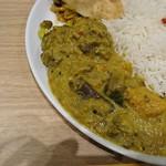ポンガラカレー - 野菜カレーアップ