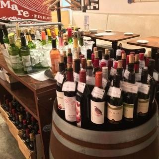 全コースでご利用頂ける50種類以上のワインビュッフェ♪