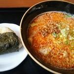 羅妃焚 - 味噌担々麺(ハーフ)とチャーシューおにぎり