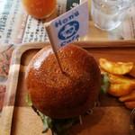 ホヌカフェ - 上からハンバーガー