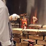リストランテ ミヤマ162 - 料理写真:炭焼きの光景('18.10月中旬)