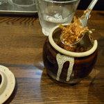 らぁ麺 汁八番 - 焦がしネギ調味料