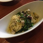 スカッサカッツィ - ヤリイカとイタリア野菜のオイルパスタ
