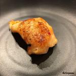 立ち食い焼肉 と文字 - ミノサンド