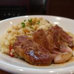 肉バル HATTORI - 豚肩ロースのステーキピラフアップ