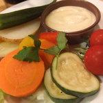 キッチンガーデン - 蒸し野菜サラダセット 580円