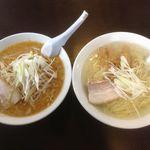 麺屋 八 - 料理写真:みそラーメン・塩ラーメン