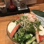 笹吟 - かぶとブロッコリーのかにサラダ1500円。色々な野菜がたっぷり入っていて、かに、ドレッシングとの相性も良かったです(╹◡╹) とても美味しくいただきました(╹◡╹)