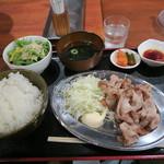 96445252 - 南国フルーツポークの豚バラ定食 648円(税込)