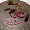 ルセット - 料理写真:蝦夷鹿のブュルレ ブラックペッパーと赤ワインのソース  紫芋のジャガイモ、シャドークイーンのピューレ 栗のソテー