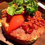 アジト 金山 - 牛肉と秋野菜のスペイン風オムレツ