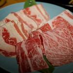 しぶや畑 - 追加の牛肉(カルビ+肩ロース)