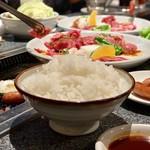 あみ焼ハウスせせらぎ - 白飯(大)