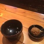 96455322 - 赤オニとつけ麺風にする時に使用するお茶碗