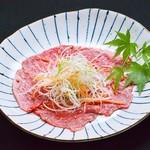 生肉専門店 焼肉 金次郎 - 黒毛和牛赤身のねぎロース