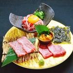 生肉専門店 焼肉 金次郎 - 神戸牛 肉刺し盛り合わせ