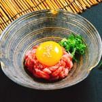 生肉専門店 焼肉 金次郎 - 極上サーロインの塩ユッケ