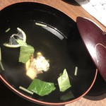 96464759 - 【椀物】名残ハモと松茸のお吸い物