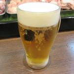 かんぐん - 【生ビール・中 500円】