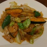 chuugokuryourichimmin - 海老と野菜の柚子炒め