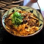 丸亀製麺 - 牛肉ひらたけしぐれ煮ぶっかけ