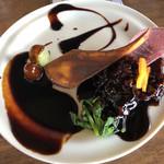 中華バルSAISAI。 - 黒酢の酢豚マスカット添え