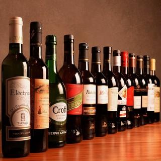 20種以上の豊富なシェリー酒をご用意