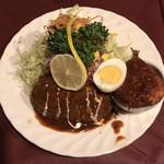 96484754 - 洋風ハンバーグ・一品料理付き ¥950