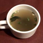96484756 - 洋風ハンバーグ・一品料理付き ¥950 のスープ