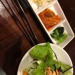 wagyuuyakinikubarukuramoto - サラダとお通し
