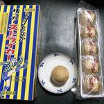 牧瀬製菓 - 料理写真:サッカーボールに似せた もなかです