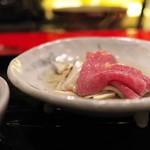 にくの匠 三芳 - お肉と松茸のしゃぶしゃぶ。香り満開♪