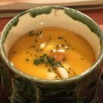 鮨 そえ島 - ◆白子様入り茶碗蒸し、黄身とポン酢の餡かけ・・上質でキレイな白子様は勿論美味しい。 茶碗蒸し自体もいいお出汁を感じ好み。