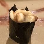 鮨 そえ島 - 白子様でございます。軽く炙り、煮切りが塗られています。フフ 幸せ。(´艸`*)