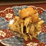 鮨 そえ島 - ◆渡り蟹とバフンウニの和え物・・バフンウニの濃厚な甘さと蟹の甘味が重なりいい味わいに。