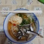 宮川製麺所 - うどん(小)と半熟玉子天