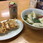 幸楽 - 焼餃子と水餃子・・・とノンアルビール