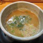 麺匠 たか松 - スープ割りwith青さ海苔