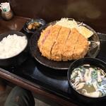 キセキ食堂 - キセキ食堂(埼玉県上尾市本町)キセキ定食(カツ)1,000円