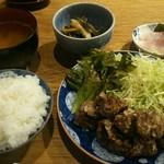 まめや - マグロ竜田揚げ定食