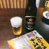 淀屋酒店 - ドリンク写真:サッポロ黒ラベル 小瓶(260円)とチーズ鱈(140円)