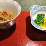 こんみど - きんぴら   春菊と 菊 の 煮浸し
