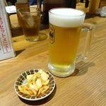 釜たけうどん - 生ビール