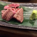 96517891 - 岡山和牛特上ヒレ肉の炭焼き